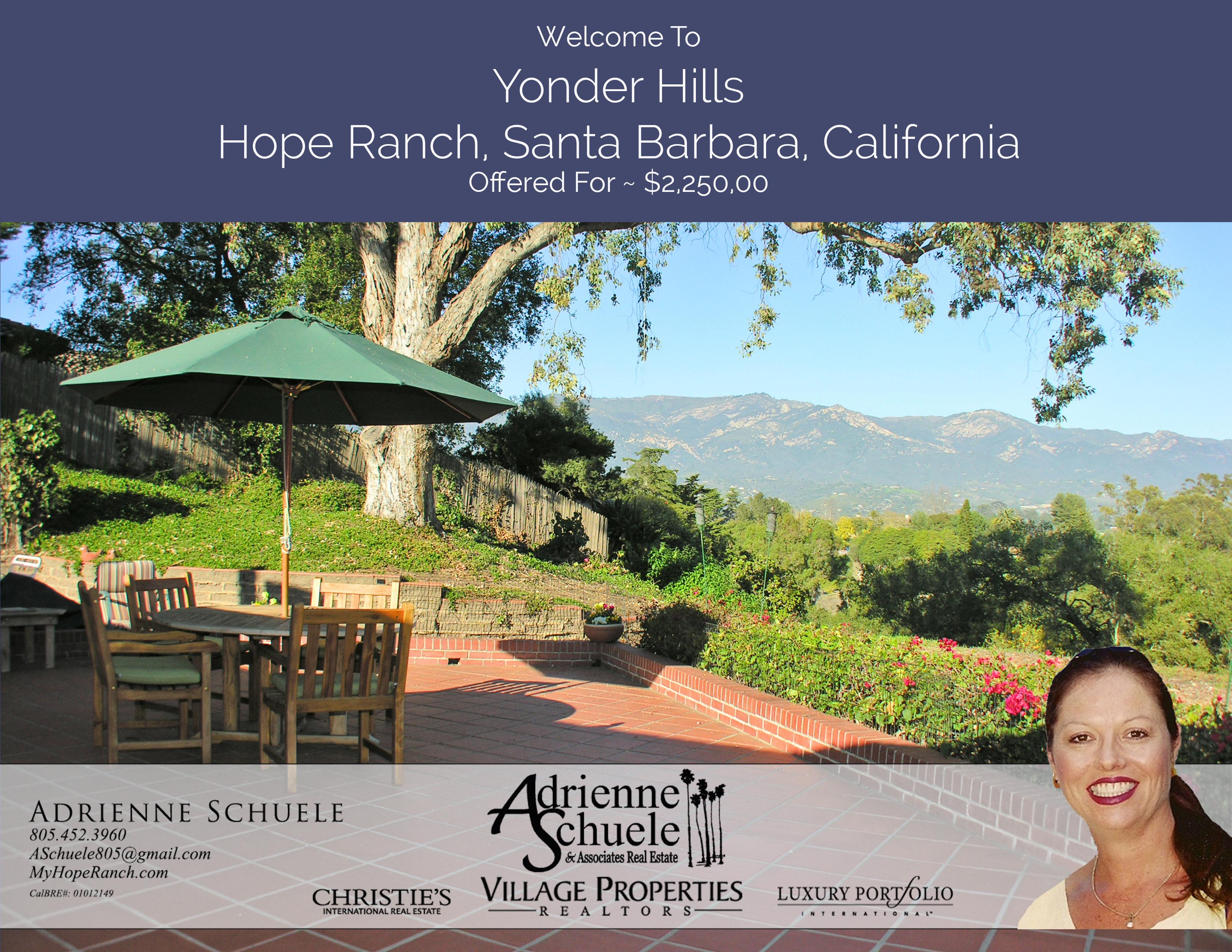 Hope Ranch Hilltop Sold Hope Ranch Santa Barbara